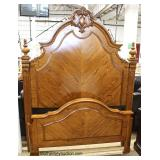 4 Piece Contemporary Carved Oak Full Size Bedroom Set  Auction Estimate $400-$800 – Located Inside