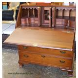 "SOLID Cherry Bracket Foot ""Colony House Fine Furniture"" Slant Front Desk  Auction Estimate $200-$40"