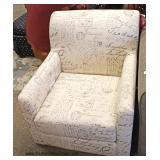 "NEW ""Coaster Furniture"" Upholstered Paris Design Print Club Chair  Auction Estimate $100-$300 – Loc"