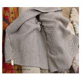 SOFIA made in India 80% Wool 20% Cotton Flat Woven Grey 10