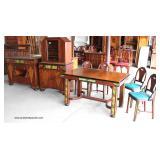"7 Piece ""Ed J. Jennings Furniture"" Junior Art Deco Paint Decorated Dining Room Set  Auction Estimat"