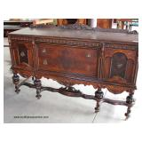 Walnut 2 Tone Depression Carved Sideboard with Back Splash  Auction Estimate $200-$400 – Located Do