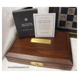 """The Franklin Mint"" Civil War Checkers Set  Auction Estimate $200-$400 – Located Inside"