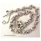 — GORGEOUS —  Platinum and 16+ ctw Diamond Bracelet [graduates approximate  (2) 3/4ct center to 1/5