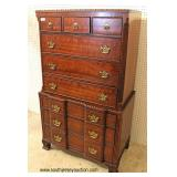 SOLID Mahogany Bracket Foot Chest on Chest  Located Inside – Auction Estimate $400-$800
