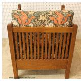 "Mission Oak ""Stickley Furniture"" Even Arm Club Chair  Auction Estimate $500-$1000 – Located Inside"