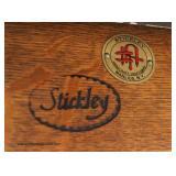 "Mission Oak ""Stickley Furniture"" Even Arm Club Chair  Auction Estimate $500-$1000 – Located Inside"