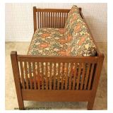 "Mission Oak Even Arm ""Stickley Furniture"" Sofa  Auction Estimate $1000-$2000 – Located Inside"