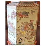 Asian Decorated Porcelain Lamp with Shade  Auction Estimate $100-$300 – Locate Inside