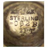 5 Piece Sterling Set with Silverplate Serving Tray  Located in Showcases – Auction Estimate $1000-$