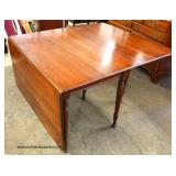 "7 Piece Cherry ""Pennsylvania House Furniture"" Drop Side Table with 6 Brace Back Chairs  Auction Est"