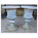Large Selection of Outdoor Cast Iron Victorian Style Planters, Urns and other Outdoor Items  Auctio