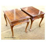 "PAIR of ""Mersman Furniture"" Queen Anne Cherry One Drawer Stands by  Auction Estimate $50-$100 – Loc"