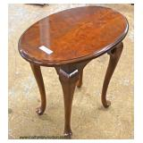 "Oval Queen Anne ""Mersman Furniture"" Cherry Lamp Table  Auction Estimate $50-$100 – Located Inside"
