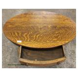 ANTIQUE Quartersawn Oak One Drawer Library Table  Auction Estimate $100-$300 – Located Inside
