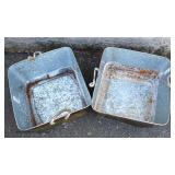 Large Selection of Galvanized Farm Style Planter Buckets and Others  Auction Estimate $100-$300 – L