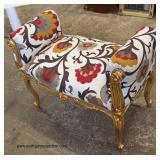 French Style Upholstered Window Bench  Auction Estimate $100-$200 – Located Inside