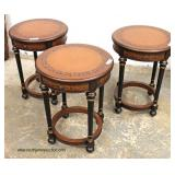 Set of 3 Mahogany Lamp Tables  Auction Estimate $100-$300 – Located Inside