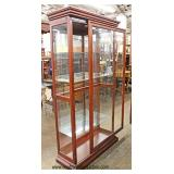Mahogany Mirror Back Glass Shelf Curio Display Cabinet  Auction Estimate $200-$400 – Located Inside