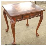 """BEAUTIFUL """"Butler Furniture"""" Mahogany Checker Chess Game Table with Accessories  Auction Estimate $"""