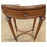 Oval One Drawer Mahogany Lamp Table in the French Style  Auction Estimate $100-$200 – Located Insid