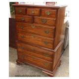 "SOLID Cherry ""Pennsylvania House Furniture"" Bracket Foot High Chest  Auction Estimate $100-$300 – L"