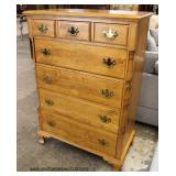 CLEAN SOLID Maple Bracket Foot High Chest  Auction Estimate $100-$300 – Located Inside