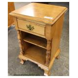 SOLID Maple one Drawer Night Stand  Auction Estimate $50-$100 – Located Inside