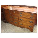 Mahogany 9 Drawer Low Chest  Auction Estimate $100-$300 – Located Inside
