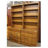 "PAIR of (2)  Piece SOLID Maple ""Ethan Allen Furniture"" Chest Bookcase  Auction Estimate $200-$400 –"