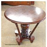 Mahogany Round Center Table  Auction Estimate $50-$100 – Located Inside