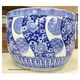 Asian Blue and White Fish Bowl  Auction Estimate $50-$100 – Located Inside