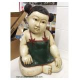 Large Asian Baby Figure in some form of composition  Auction Estimate $50-$100 – Located Inside
