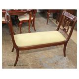 Mahogany Lyre Harp Sides End of the Bed Bench  Auction Estimate $100-$300 – Located Inside