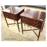 PAIR of Leather Top Mahogany Library/Bed Steps  Auction Estimate $100-$300 – Located Inside