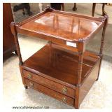 Mahogany 2 Drawer 2 Tier Lamp Table  Auction Estimate $100-$200 – Located Inside