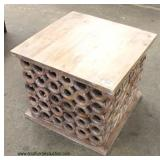 Reclaim Wood Ring Decorative Lamp Table  Auction Estimate $100-$200 – Located Inside