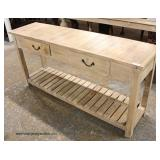 Reclaim Wood 2 Drawer 2 Tier Console  Auction Estimate $100-$300 – Located Inside