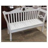 White Distressed Decorator Bench  Auction Estimate $100-$300 – Located Inside