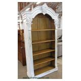 Distressed White Carved Shabby Chic Style Open Front Bookcase  Auction Estimate $200-$400 – Located