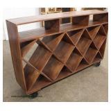 Reclaim Mahogany Style Finish Large Wine Cabinet Console Holder  Auction Estimate $200-$400 – Locat