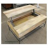 Reclaim Wood Industrial Style Lift Top Coffee Table  Auction Estimate $100-$300 – Located Inside