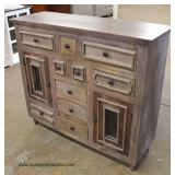 Distressed Reclaim Wood Decorator Credenza  Auction Estimate $300-$600 – Located Inside