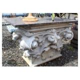 ANTIQUE Custom Corbel Marble Top and Concrete Base Table  Auction Estimate $200-$400 – Located Fiel