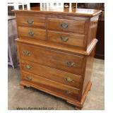 SOLID Cherry Bracket Foot Chest on Chest  Auction Estimate $100-$300 – Located Inside