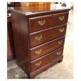 SOLID Mahogany 4 Drawer Chest Made in USA  Auction Estimate $100-$300 – Located Inside