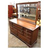 "SOLID Mahogany ""Drew Furniture"" Dresser with Mirror  Auction Estimate $100-$300 – Located Inside"