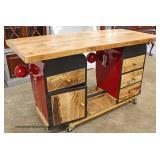 UNUSUAL AND UNIQUE Farm Tractor Front Desk  Auction Estimate $400-$800 – Located Inside