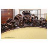 ANTIQUE BEAUTIFUL Rosewood Carved Settee  Auction Estimate $300-$600 – Located Inside