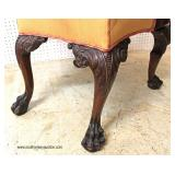 FANTASTIC Highly Carved Chippendale Mahogany Arm Chair with Lion Heads, Griffins and Hairy Paw Feet